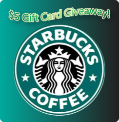 $5 Starbucks Gift Card Flash Giveaway !