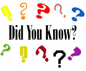 Did You Know?  Random Fact 9/28/12
