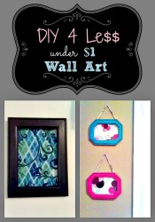 Quick and Easy, Inexpensive Wall hanging idea