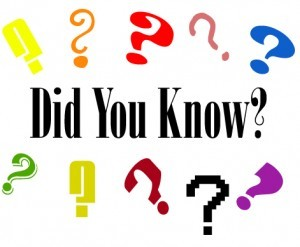 Did you Know? Random Fact 11/6/12