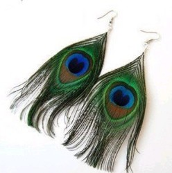 Gorgeous Peacock Feather Earrings! Save over $60