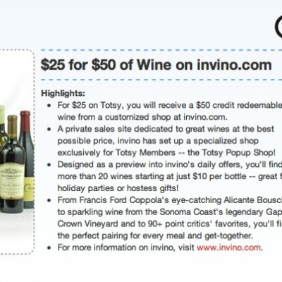 Calling all Wine Lovers!  $50 to use at Invino.com !