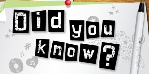 Did You Know? Random Fact 1/16/13