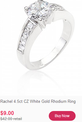 White Gold Jewelry Starting at $9 only $2 Shipping. 90% off!