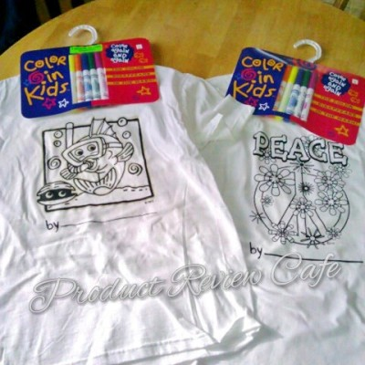 Kids Can Color Their Own T Shirts Review & Giveaway