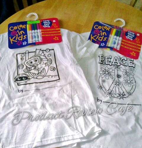 Kids Can Color Their Own T Shirts Review & Giveaway  Product Review Cafe 1