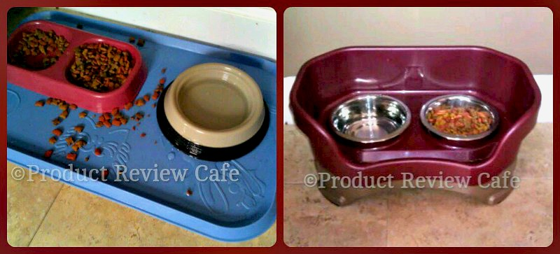 A Neat Way To Keep Your Pet's Food Area Clean -Neater Feeder Review  Product Review Cafe 1