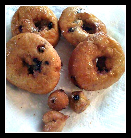 Homemade Wild Maine Blueberry Donuts EASY Recipe