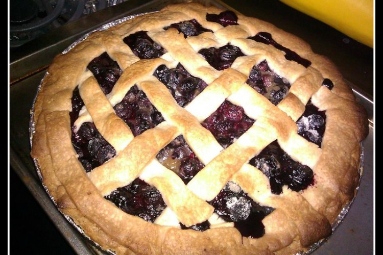 Super Simple Homemade Blueberry Pie With Lattice Crust  Product Review Cafe