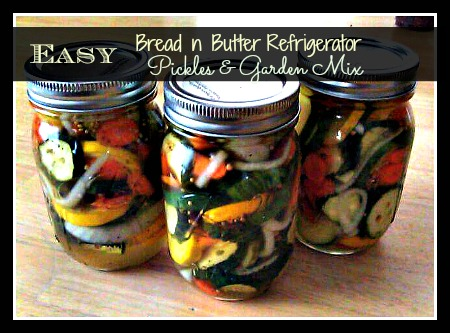 Homemade Bread N Butter Refrigerator Pickles & Garden Mix