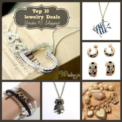 Top 10 Amazing Jewelry Deals Under $5 Shipped Free
