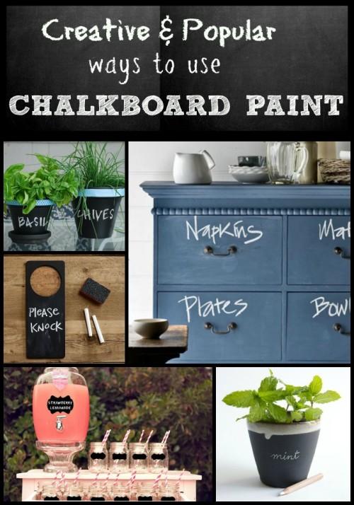 Popular creative chalkboard paint ideas for Unique chalkboard ideas