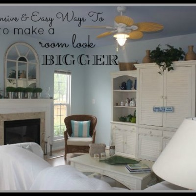 Inexpensive & Easy Ways To Make Your Rooms Look Bigger   Product Review Cafe 1
