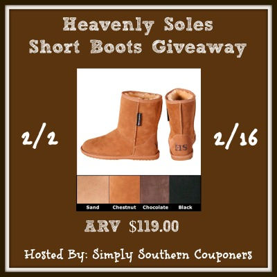 Heavenly Soles Sheepskin Short Boots Giveaway