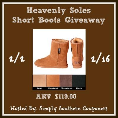 Heavenly Soles Sheepskin Short Boots Giveaway