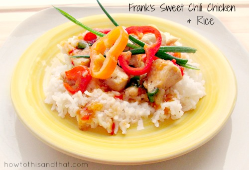 Frank's Sweet Chili Sauce Chicken & Rice Recipe  Product Review Cafe 1