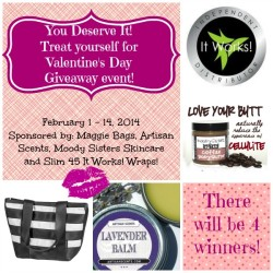 You Deserve It Valentine's Giveaway  Product Review Cafe