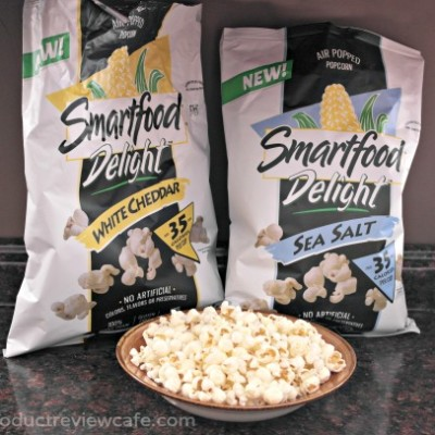 Skinny Popcorn From SMARTFOOD- New Delight White Cheddar  Product Review Cafe 1
