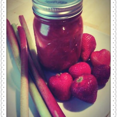 My Homemade Strawberry Rhubarb Compote Recipe  Product Review Cafe 2