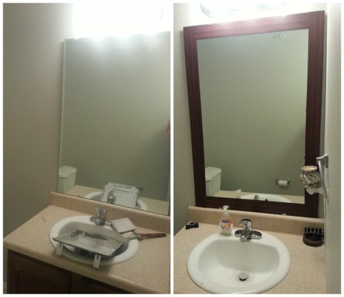 stick on frames for bathroom mirrors peel amp stick mirror frame product review 25777