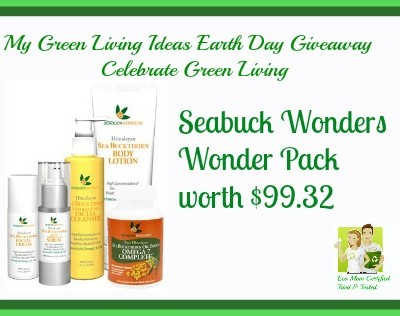 My Green Living Earth Day Giveaway Seabuck Wonders Pack ARV $99