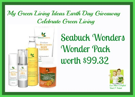 My Green Living Earth Day Giveaway Seabuck Wonders Pack ARV $99  Product Review Cafe