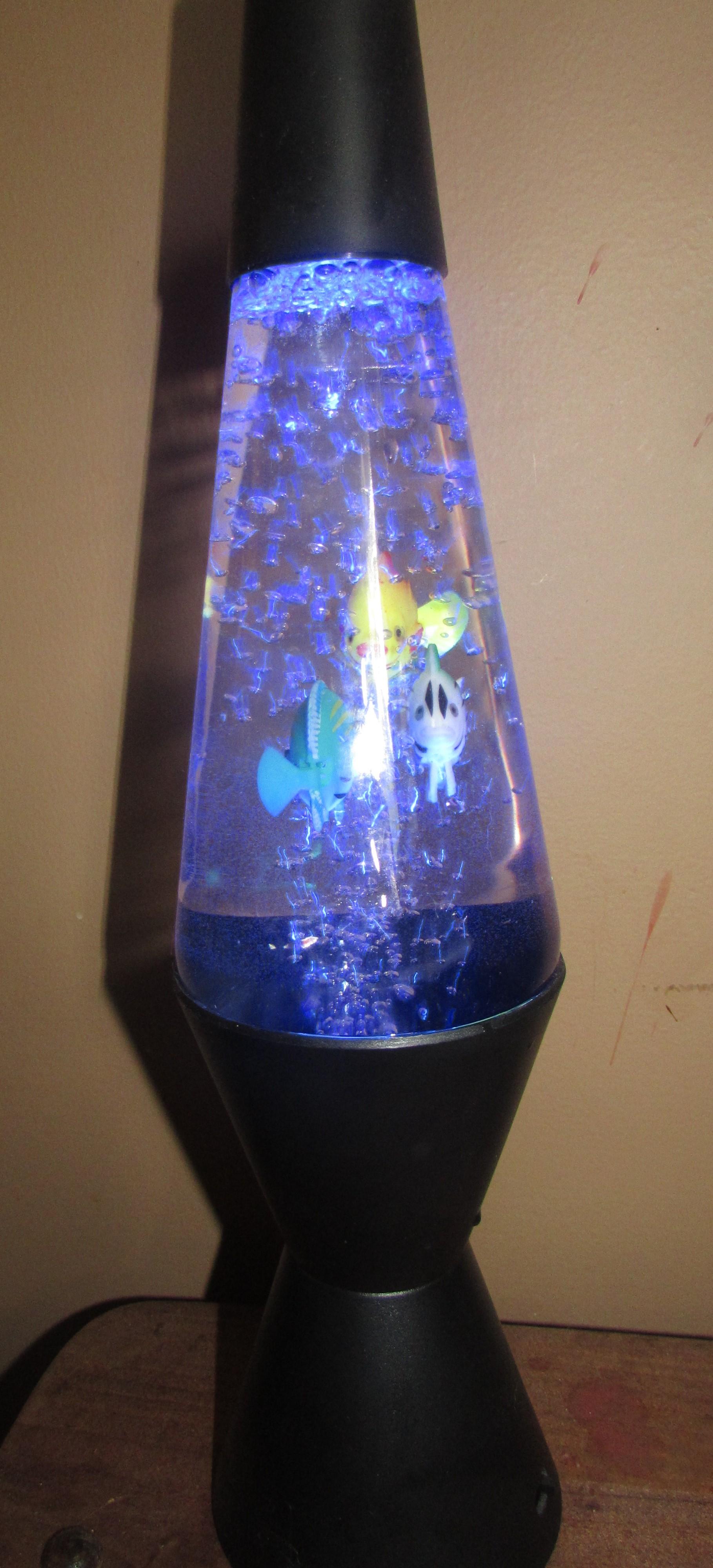 Lava Lamp Black Aquarium