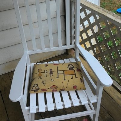 Best Choice Products White Wood Porch Rocker