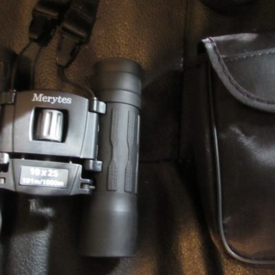 Binoculars with 10×25 Portable High Definition and Blue Film by Merytes
