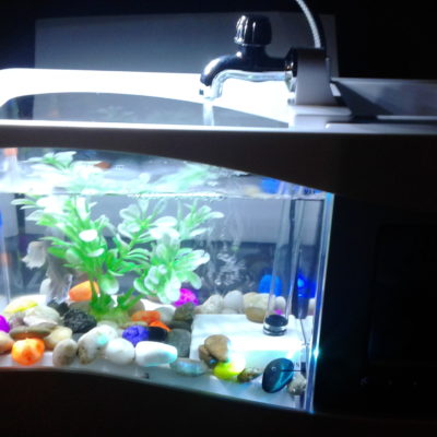 Caveen Mini USB Desktop Fish Tank