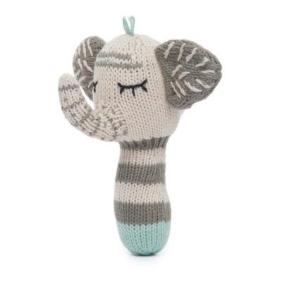 Finn + Emma Mini Elephant Rattle