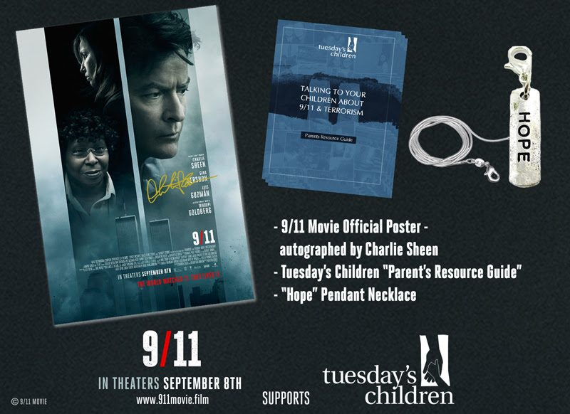 9/11 Film Charlie Sheen Autographed Poster and Gift Pack