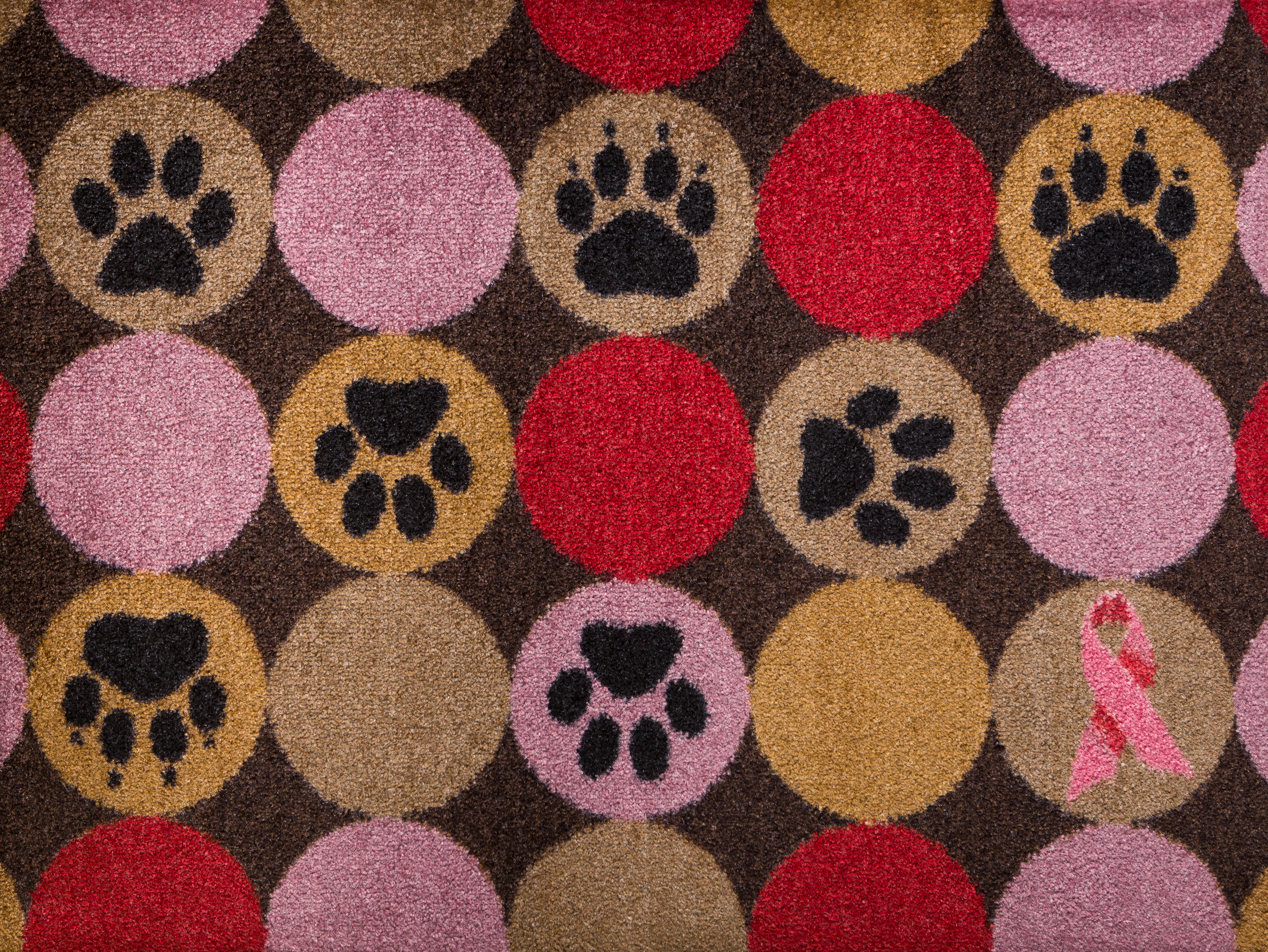 2017 Carpet One Floor & Home's Welcome a Cure Pink Ribbon Mat Collection