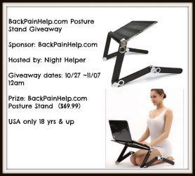 Win A BackPainHelp.com Posture Stand