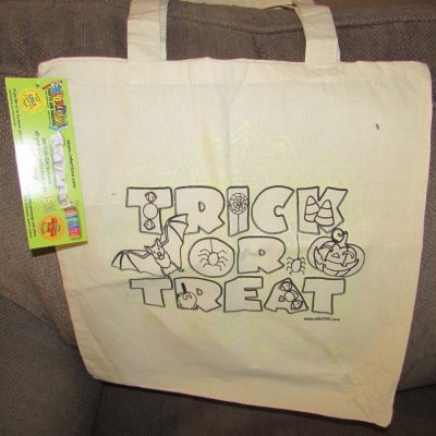 Colortime Crafts and Markers – Glow in the Dark Halloween Tote!