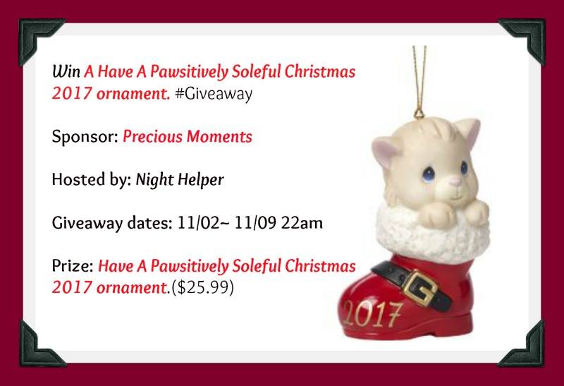 Win A Have A Pawsitively Soleful Christmas 2017 Ornament