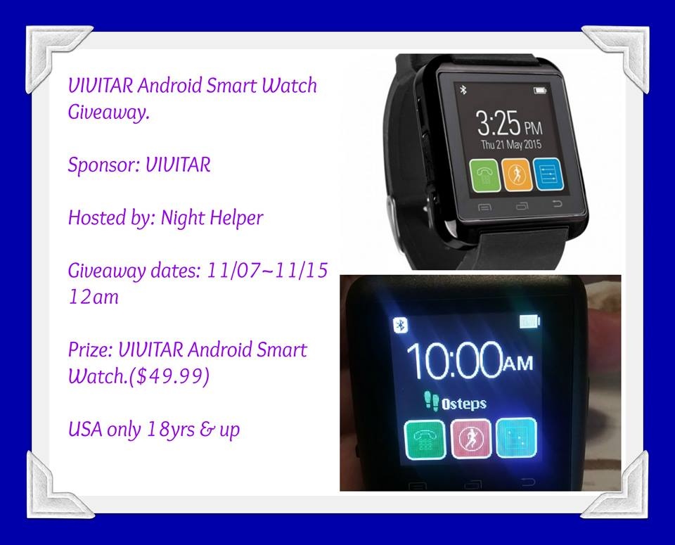 Win A VIVITAR Android Smart Watch