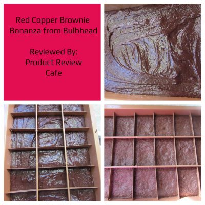 Red Copper Brownie Bonanza Pan from Bulbhead