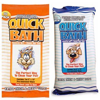 Quick Bath Pet Wipes