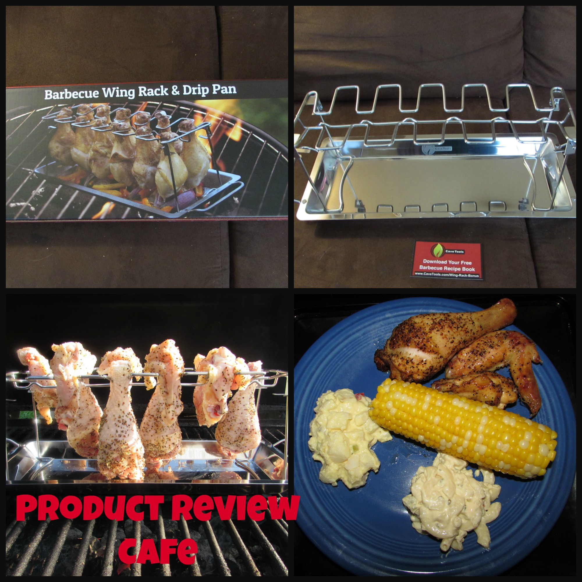 Cave Tools Barbeque Wing Rack & Drip Pan