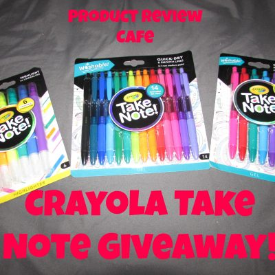 Crayola Take Note Products Make Back to School Bright!