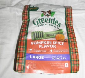 Pumpkin Spice Season for Dogs from Greenies