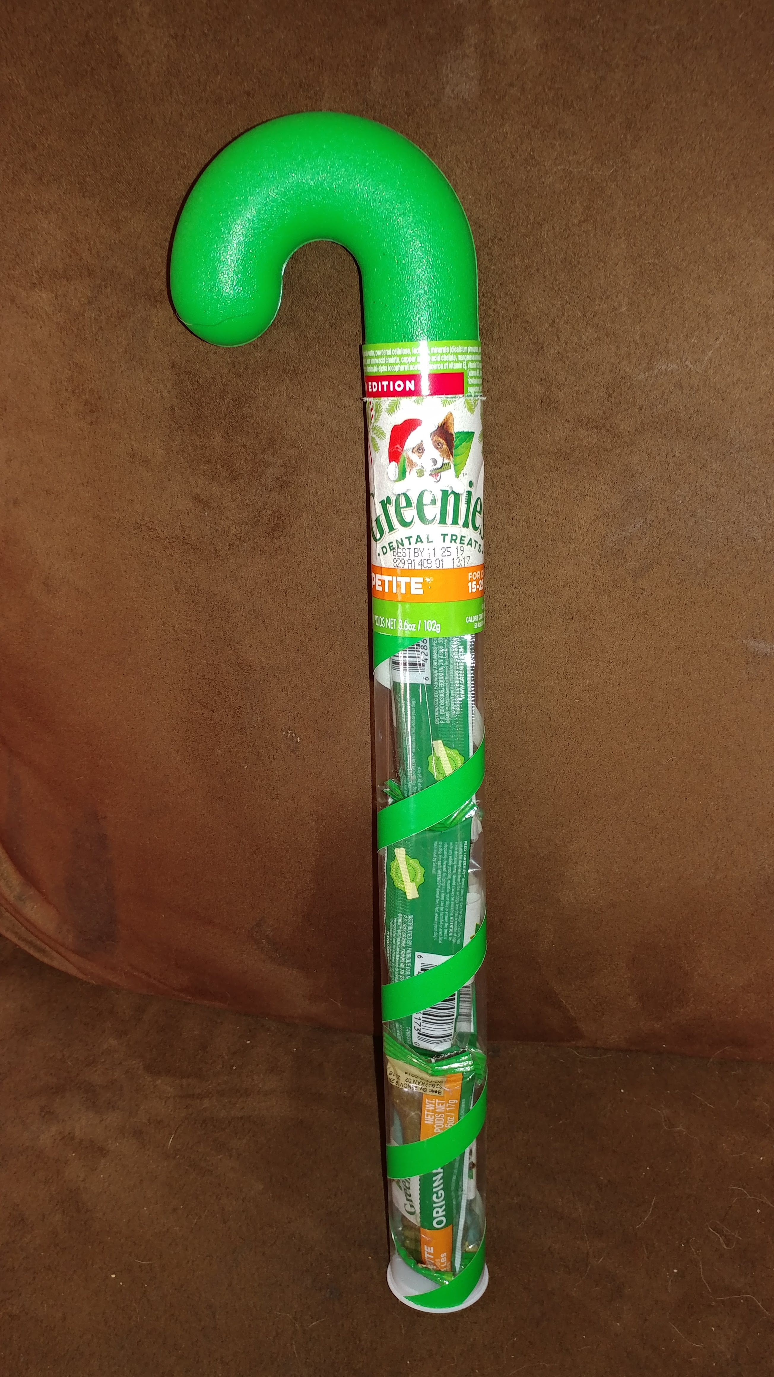 Greenies Candy Cane Tube Dental Dog Treats
