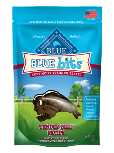 Blue Buffalo Blue Bits Tender Beef Recipe Soft-Moist Training Dog Treats