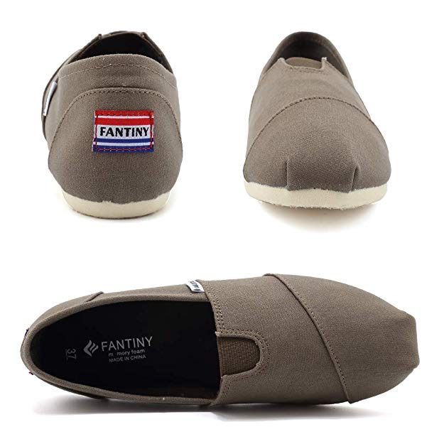 WALUCAN Women's Classics Canvas Shoes Slip on Casual Shoes