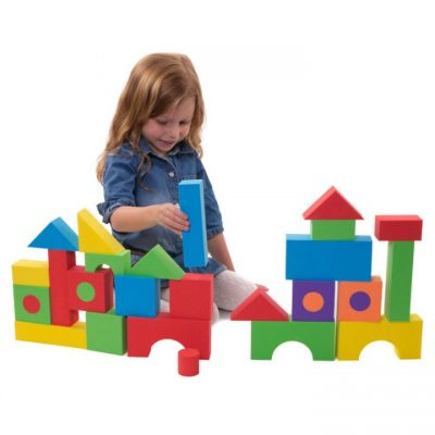 Entertainment at Home with Foam Building Blocks