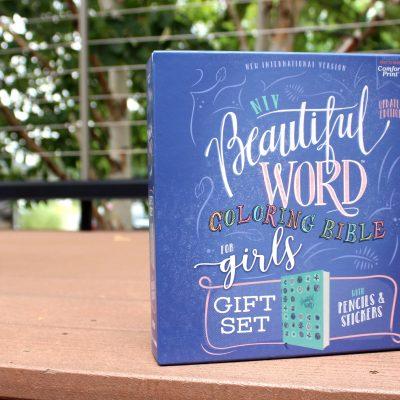 NIV Beautiful Coloring Bible Gift Set