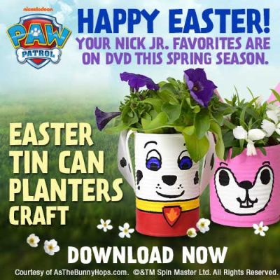 PAW Patrol Flower Tin Craft to Celebrate Easter